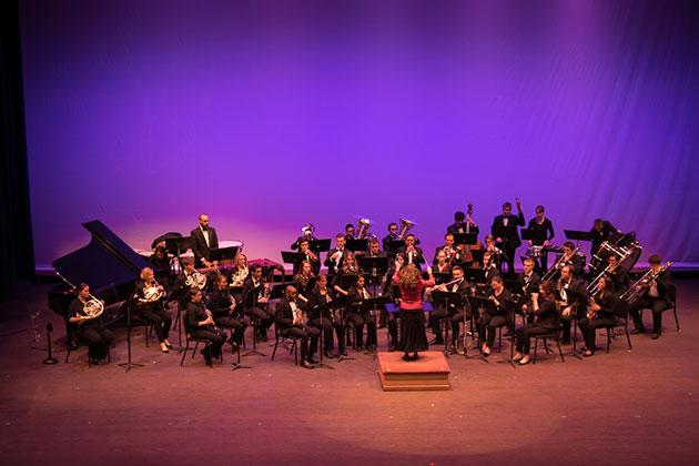 Wind ensemble at the 2017 UNC Arts Gala