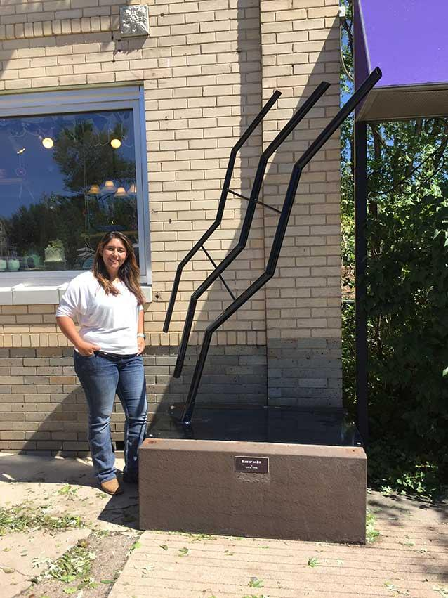 Lili Silva, Greeley Sculpture on Loan Program, A Ripple Forgotten