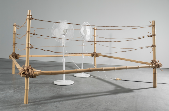 Footwork, Bamboo, rope, twine, wire, fans, & wind, 2017. Photo by Alex Taylor.