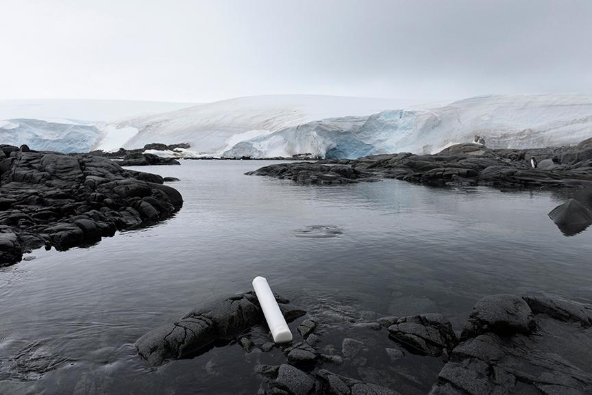 "Letters to the Future- Antarctica, 3022, Archival Pigmented Print, 28 x 42""."