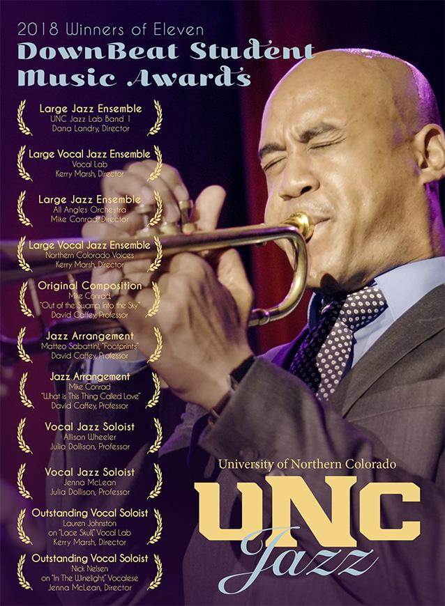 UNC Jazz Studies 2018 DownBeat Student Awards