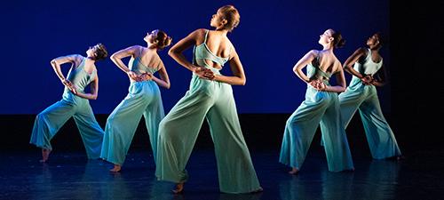 Five women dancers