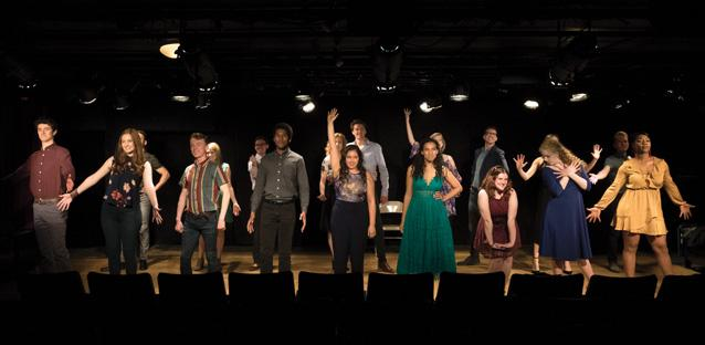 Students taking a bow at the New York Showcase